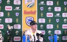 FILE: Former Australia captain Steve Smith addressing the media. Picture: @OfficialCSA/Twitter