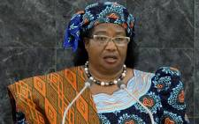 Joyce Hilda Mtila Banda, President of Malawi, who fired her entire cabinet due to allegations of corruption in Malawi's senior government. Picture: AFP.