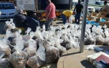 Abalone worth millions seized after a truck was stopped police members in Beaufort West, 2 suspects arrested. Picture: Twitter @SAPoliceService.
