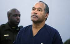 This file photo shows OJ Simpson in the courtroom after being sentenced at the Clark County Regional Justice Center in Nevada on 4 December 2008. Picture: AFP.
