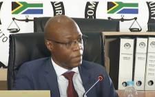 A screengrab of former Eskom CEO Matshela Koko testifying at the state capture commission on 3 December 2020. Picture: SABC Digital News/YouTube