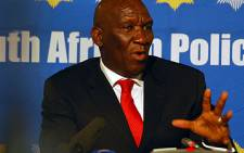 General Bheki Cele at a press conference in Pretoria about the Public Protector's report on 24 February. Picture: Taurai Maduna/Eyewitness News