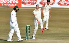 Anrich Nortje took his 3rd 5 wicket haul in test matches on day 2 of the 2nd test against Pakistan in Rawalpindi on 5 February 2021. Picture: PCB Media.