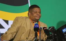 State Security Minister David Mahlobo speaks at the ANC policy conference in Nasrec, Johannesburg on 4 July, 2017. Picture: Christa Eybers/EWN