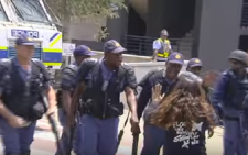 Moments leading up to the when Shaeera Halla was shot with 13 rubber bullets in the back by the police. Picture: YouTube screengrab.
