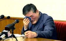 Kim Dong-Chul, 62, who became a naturalised US citizen in 1987 and was arrested on espionage charges in October last year, pleaded for mercy during his carefully orchestrated confession, Japan's Kyodo news agency reported. Picture: AFP