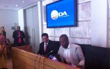 A Democratic Alliance (DA) media briefing on yesterday's Parliamentary chaos on 14 November 2014. Picture: Chanel September/EWN.