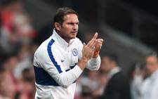 Chelsea head coach Frank Lampard gestures during the UEFA Super Cup 2019 football match between Liverpool and Chelsea at Besiktas Park Stadium in Istanbul on 14 August 2019. Picture: AFP