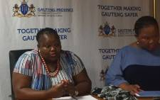 FILE: Community Safety MEC Sizakele Nkosi-Malobane chairing the meeting with taxi associations. Picture: Clement Manyathela/EWN.