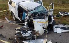 At least 10 people were killed after a bakkie collided head-on with a taxi in Limpopo, on 30 October 2017. Picture: Supplied