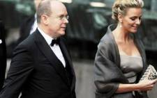 Prince Albert and Charlene Wittstock arrive for a gala performance at the Stockholm Concert Hall in Stockholm on June 18, 2010. Picture: AFP.