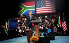 The US president unveils a 7 billion dollar project for Sub-Saharan Africa to double access to electricity. Picture: EWN