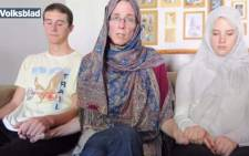 Yolandé Korkie and her children released a video pleading for the release of her husband Pierre Korkie who is being held hostage by Al-Qaeda militants. Picture: Volksblad.