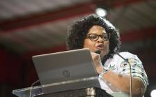 Nomvula Mokonyane during the nominations process at the ANC's national conference on 17 December 2017. Picture: Sethembiso Zulu/EWN