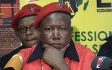 EFF leader Julius Malema at a media briefing in Johannesburg, 9 January 2014. Picture: Vumani Mkhize/EWN.