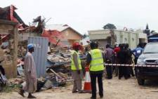 The scene of a building collapse in Lagos, Nigeria where at least 67 people have been killed. Picture: Twitter.