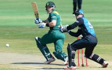 Proteas' Morne van Wyk and New Zealand's Luke Ronchi during the ODI in Durban on 26 August 2015. Picture: Cricket South Africa ‏@OfficialCSA.""