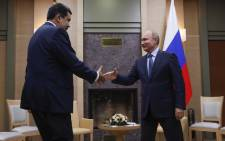 Russian President Vladimir Putin (R) meets with his Venezuelan counterpart Nicolas Maduro at the Novo-Ogaryovo state residence outside Moscow on 5 December 2018. Picture: AFP
