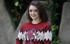 FILE: British actress Maisie Williams. Picture: AFP