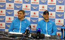 Blue Bulls coach Frans Ludeke and injured captain Pierre Spies. Picture: Marc Lewis/EWN
