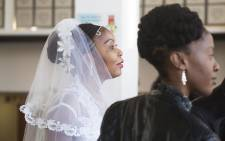 Grace Msibi renewed her vows on Robben Island as part of the Valentines Day celebrations.