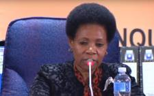 A screengrab of retired Constitutional Court Justice Yvonne Mokgoro presiding over proceedings on 5 February 2019.
