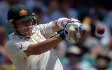 Australia's Brad Haddin plays a shot for a boundary on the first day of the fifth Ashes cricket Test against England at the Sydney Cricket Ground on 3 January 2014. Source: AFP