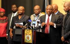 FILE: Deputy President Cyril Ramaphosa addressing the media after the meeting with opposition parties' representative in Tynhuys, Parliament in Cape Town on 18 November 2014. Picture: GCIS.