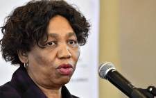 Basic Education Minister Angie Motshekga at a briefing on 1 June 2020. Picture GCIS.