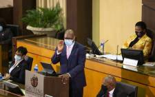 Gauteng Premier David Makura delivers his State of the Province Address in the Gauteng Legislature on 23 February 2021. Picture: @GautengProvince/Twitter
