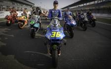 Suzuki's Joan Mir (front) will begin the defence of his 2020 MotoGP title at the Losail circuit in Doha when the 2021 season kicks off on 28 March 2021. Picture: @MotoGP/Twitter
