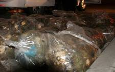 Abalone with an estimated street value of R2 million was discovered at Canal Walk Shopping Centre on 18 July 2012. Picture: Supplied