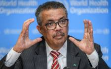 World Health Organisation (WHO) Director-General Tedros Adhanom Ghebreyesus talks during a daily press briefing on COVID-19 virus at the WHO headquarters in Geneva on 11 March 2020. Picture: AFP