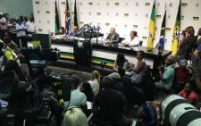 FILE: The ANC NEC's briefing on the recall of President Jacob Zuma on 13 February 2018. Picture: Thomas Holder/EWN.