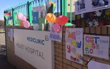 Whilst the nation awaits the next medical update from the Presidency well-wishers visited the Mediclinic Heart Hospital in Pretoria to leave messages of support for their hero. Picture: Govan Whittles/EWN
