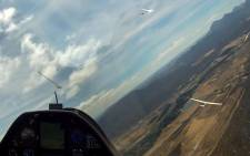 Gliders competing in the Sailplane Grand Prix in the skies above the Western Cape in January 2015. Picture: Supplied