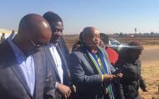 President Jacob Zuma arrives in Lenasia on 30 June 2016. Picture: Thando Kubheka/EWN.