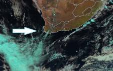 A cold front is settling in over Cape Town on Monday. Picture: Twitter/ @SAWeatherServic