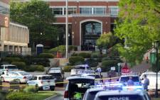 Police keep the campus on lockdown after a shooting at the University of North Carolina Charlotte in University City, Charlotte, on 30 April 2019. Picture: AFP