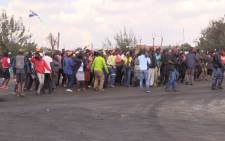 Lenasia south residents protest over illegal land occupation.Picture: Kgothatso Mogale/EWN
