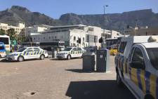 The City of Cape Town is spending R2 million to renovate Station Deck taxi rank. The city's taxi enforcement unit is on the Grand Parade and around the area to maintain order on 16 January 2019. Picture: Monique Mortlock/EWN