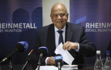 FILE: Public Enterprises Minister Pravin Gordhan visited the Rheinmetall Denel Munition depot near Somerset West following an explosion at the plant. Picture: Cindy Archillies/EWN