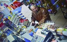 A still image from CCTV footage recorded on 27 February 2018 shows former Russian spy Sergei Skripal buying groceries at the Bargain Stop convenience store in Salisbury on 27 February 2018. Picture: AFP.