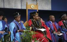 Thandi Modise (centre) is sworn in as the chancellor of the Cape Peninsula University of Technology (CPUT). Picture: Cindy Archillies/EWN