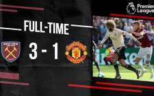 Manchester United lose to West Ham United on Saturday, 29 September. Picture: @ManUnited/Twitter.