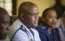 Acting National Police Commissioner Lieutenant-General Johannes Khomotso Phahlane addressed the media in Pretoria on 22 December 2015. Picture: Reinart Toerien/EWN.