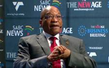 A screengrab of President Jacob Zuma during The New Age Business Briefing at Grand West Casino in Cape Town on 12 February 2016.