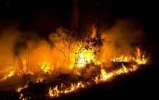 Fire breaks out in an informal settlement, KwaZulu-Natal. Picture: Robert Mckenzie.