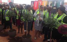 Minister Dipuo Peters launched the Moloto Road project on 6 June 2016. Picture: Thando Kubheka/EWN.