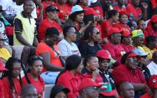 Cosatu supporters, as well as ANC supporters, gathered at Sugar Ray Xulu stadium in Clermont for May Day. Picture: Abigail Javier/EWN